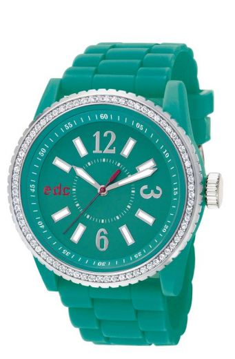 EDC Disco Glam Envy - cool turquoise mit Strass