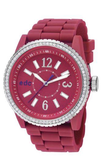 EDC Disco Glam Envy - berry pink mit Strass